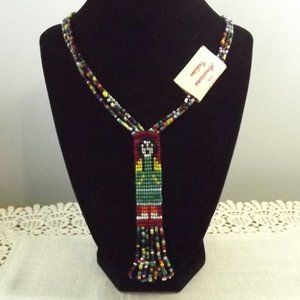 Vintage Native American Seed Bead Necklace